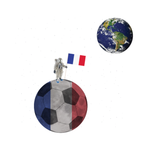 Frankreich Fussball Astronaut