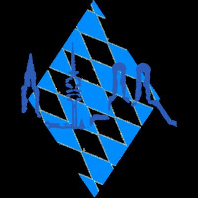 München Bayern - München in Blau weiß - Logo,minga,München,Blau weiss,Flagge,Frauenkirche,Bayern,Stadtbild,Rathaus,Fernsehturm,Wappen,Munich