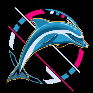 Delfin im modernen Design