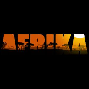 Afrika Schriftzug Landschaft