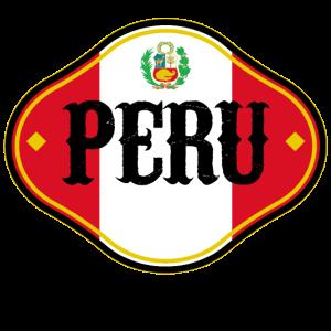 Peru Südamerika Lateinamerika Fussball Flagge Fan
