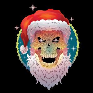 Weihnachten ugly christmas Scull Santa