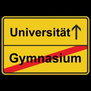 Strassenschild Gymnasium Universitaet Ortsschild