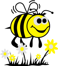 Neue Motive und Topseller: Biene mit Blumen