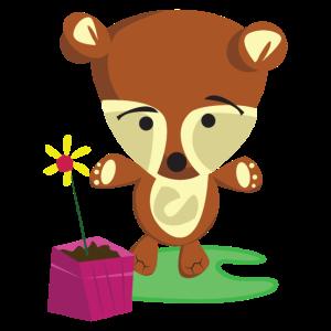 Bär mit Blume