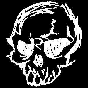 Gruseliger Totenkopf