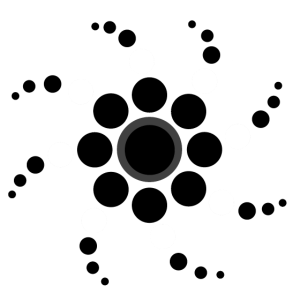 Spirale aus Punkten