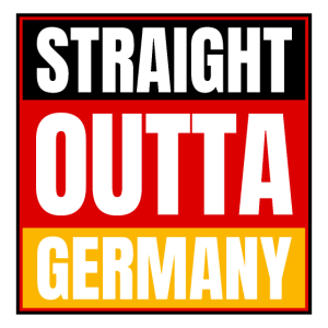 Straight Outta Germany Logo Deutschland