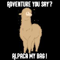 Alpaka Reise Cool Rucksack Alpaca My Bags Geschenk