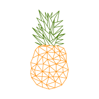 Ananas Vektor Polygon Design