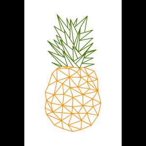 Ananas Vektor Polygon Design