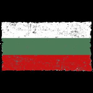 Bulgarien България Flagge used look Geschenkidee