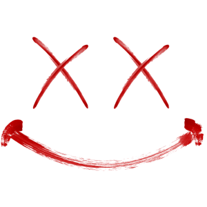 Lachendes Gesicht Rot