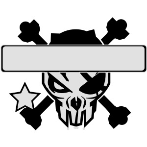 Cool skull design - put in your own text