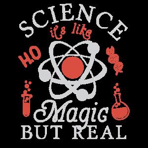 Science Its Like Magic But Real Nerd Geek Geschenk