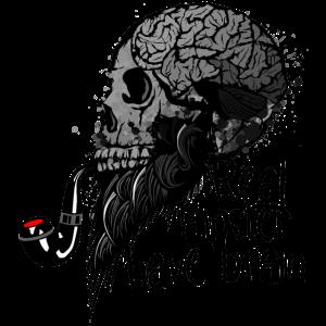 echte Hipster Totenkopf haben Gehirn Kran Schädel p