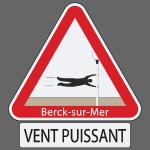 Berck-sur-mer: Vent puissant