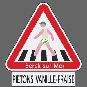 Berck-sur-mer: Piétons Vanille-Fraise