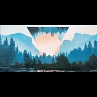 Landschaft Berg Hipster Dreieck