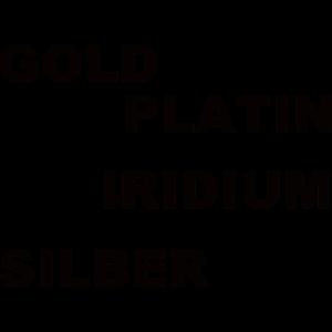 GOLD SILBER PLATIN IRIDIUM RHODIUM KUPFER OSMIUM