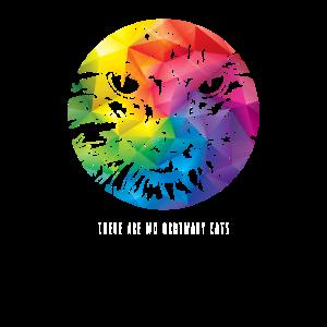 T-Shirt Portrait Katze bunt