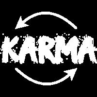 Weißes Karma-Kreislauf Design