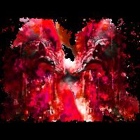 gxp woelfe hassen montag splatter watercolor rot