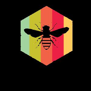 Bienen Züchter Folk Geschenk Logo Symbol Honig