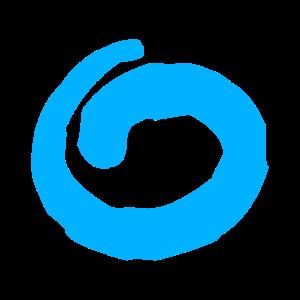 Stylischer Kreis (Blau)