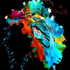 gxp eisvogel kingfisher wasserfarben spritzer