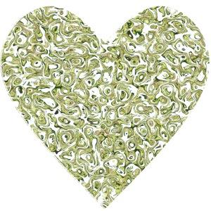 Herz abstrakt mit avocado hintergrund