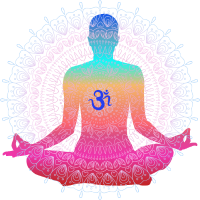 Illustration für Yoga und Meditation