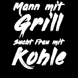 Mann mit Grill sucht