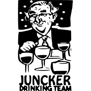 Juncker drinking team
