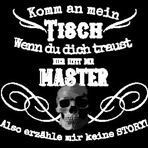 Master Brettspieler Skull Shirt Geschenk Spruch