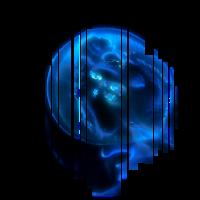 Qualle blau Ozean