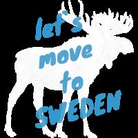 Schweden Elch Auswandern Umzug Geschenk