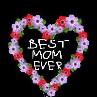 BEST MOM EVER Child Writing Flower Heart