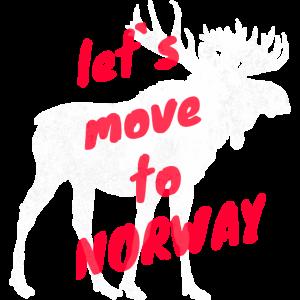 Norwegen Elch Auswandern Umzug Geschenk