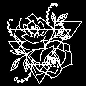 Rose Geometire Blume Tulpe