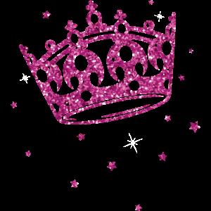 Prinzessinnen Krone mit Glitter