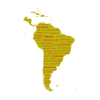 Südamerika Kontinent. Geschenkidee.