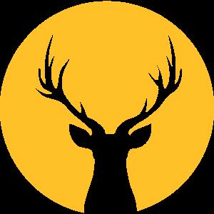 Deer In Moonlight Front
