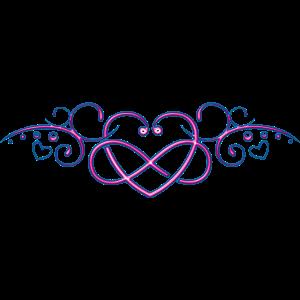 Herzen mit Unendlichkeitszeichen, pink