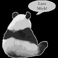 Klischee Tiere Panda Lass Mich Geschenkidee Frau