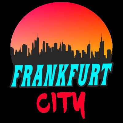 Frankfurt City Frankfurt am Main Skyline Geschenk - Motiv Frankfurt City mit Skyline und Sonnenuntergang. Ideal zum verschenken, - deutschherrnbrücke,hessisch,hessen,Frankfurt am Main,bankenviertel,kaiserstraße,sachsenhausen,Messeturm,Geschenkidee,I love frankfurt,main tower,frankfurt,frankfurter skyline,skyline,main,frankfurter Börse,salzhaus,frankfurter flughafen,Geschenk,bembel,Frankfurt,hesse,apfelwein,römerberg