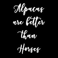 Alpacas better than horses