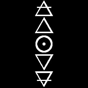 Alchemie Symbole Luft Feuer Wasser Erde Gold