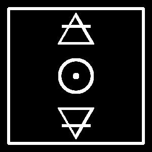 Alchemie Symbole Feuer Wasser Erde Design