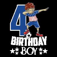 Geburtstag Junge 4 Geschenk Fußball lustig Dabbing